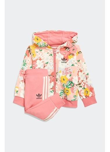 adidas Adidas Kız Bebek Günlük Eşofman Takım Hoodie Set Fz Gn2257 Pembe